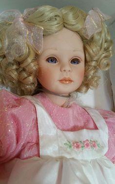 Goldilocks Porcelain Doll Pauline Bjonness Jacobsen LE 151/3000 w/bear Signed  #Dolls