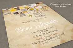 ---Photo-realistic Invitation Card Mock-Up ---Clean and professional design ---Easy to customize Via Smart Objects ---Fully Layered ---Depth of field ---Optimized for 5x7 inches print size