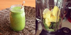 Day 5: A smoothie of 1 cup fresh pineapple chunks, 1/2 a banana, 2 big handfuls of spinach and 2 cups water. This was probably my favorite smoothie from the whole week-the pineapple made it super refreshing!