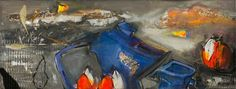 Chaos In The Kitchen  - colourful oil still life by O. Bryksa. www.les-art.com