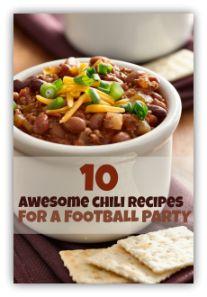 Football Party Food Ideas - Chili Recipes
