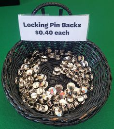 Locking Pin Backs are finally here! Get yours while they last. - $0.40 each