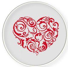 heart valentine cross stitch pattern    Buy 4 get 1 free ,Buy 6 get 2 free,Cross stitch pattern, Crossstitch PDF,heart, cross stitch pillow pattern,zxxc0194. $5.00, via Etsy.