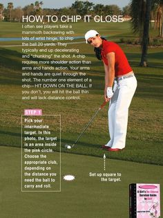 Chipping the ball close is key for lots of up and downs during a round of golf. More golf info at #lorisgolfshoppe https://www.pinterest.com/lorisgolfshoppe/pins/