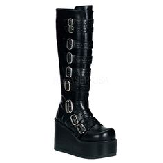 Cool Footwear, Boots & Shoes CONCORD-108, Buckled Polyurethane Knee Boots just added...