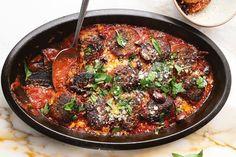 Ottolenghi Recipes, Yotam Ottolenghi, Chickpea Pancakes, Mozzarella Salad, Chaat Masala, Plum Tomatoes, New Cookbooks, Dumplings