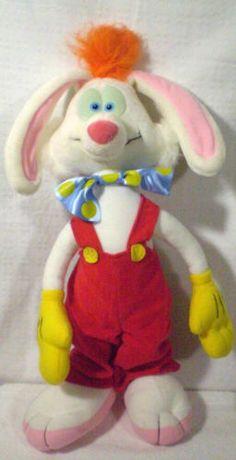 "Vintage Who Framed Roger Rabbit plush 18"" Playskool Disney 1987"