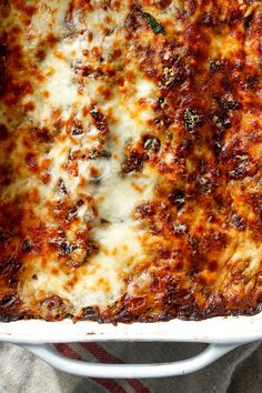 Equal parts indulgent and virtuous, this meatless lasagna from Mark Bittman will please everyone at the table. Serve it with a green salad on a weeknight, or alongside a platter of meatballs for Sunday dinner. And listen: We won't tell anyone if you use no-bake noodles or frozen spinach. It's all good either way. (Photo: Craig Lee for NYT)