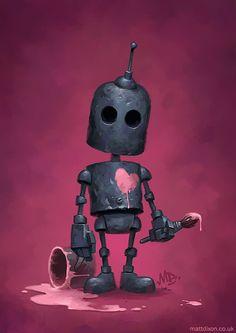 L'illustrateur Matt Dixon continue dans sa série de petits robots solitaires à la découverte du monde.