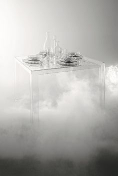 Wishing you a graceful 2014!  In the pic: Invisible Table by Tokujin Yoshioka