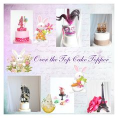 """Over the Top Cake Topper"" by afloralaffair-1 ❤ liked on Polyvore featuring interior, interiors, interior design, home, home decor, interior decorating, Masquerade and Nome"