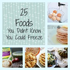 Freeze foods Collage