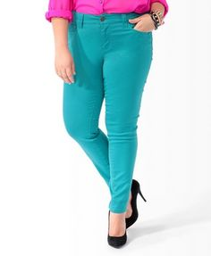 Forever 21 Colored Skinny Jeans for $24.80 in Pink, Peach, and Light Yellow