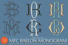 MFC Baelon Monogram by Monogram Fonts Co. on @creativemarket