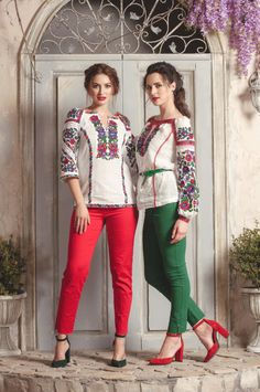 Embroidered Blouse, Ukraine, Capri Pants, Beautiful Women, Saree, Prom, Popular, Embroidery, Female