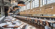 Stixx Bar & Grill, sala główna restauracji. Architektura wnętrz