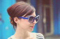 Emilee Anne wearing Prada minimal baroque sunglasses