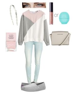 """""""Casual Comfy Pastels"""" by toescape on Polyvore featuring Rock & Republic, MICHAEL Michael Kors, BOBS from Skechers, Nails Inc., tarte, Topshop and Mrs. President & Co."""