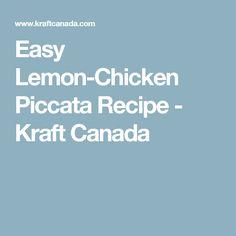 Easy Lemon-Chicken Piccata Recipe - Kraft Canada