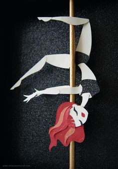 Little Paper Forest Paper Cut Art Illustration Pole Fitness Pinups on Behance