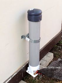 """""""A properly constructed gravity feeder will be the solution to most feeder problems.  It can contain as much or as little feed as the handler wishes to keep, it prevents any possible ways for your chickens to get waste into their feed, and it will keep the inside contents dry and pest free."""""""