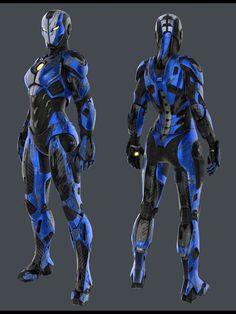 Blue Version of Female Iron Man Iron Man Suit, Iron Man Armor, Robot Concept Art, Armor Concept, Robot Ninja, Character Concept, Character Art, Space Opera, Futuristic Armour
