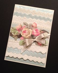 ShabbySweet Pink Rose and Lace All by PinkPetalPapercrafts on Etsy