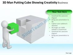 3D Man Putting Cube Showing Creativity Business Ppt Graphics Icons #Powerpoint #Templates #Infographics