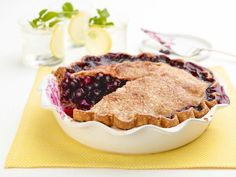 Get Amy Thielen's Blueberry-Lemon Pie with a Butter Crust Recipe from Food Network
