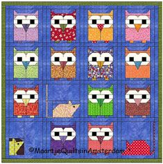 Maartje Quilts in Amsterdam: owl