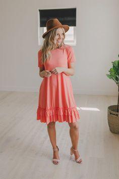 710e447d62c Ruffle Bottom Tee Dress
