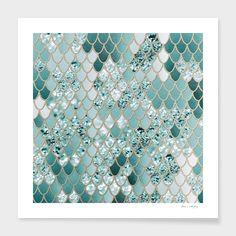 Mermaid Glitter Scales Acrylic Tray by Anita's & Bella's Art - Medium 15 x Bathroom Red, Bathroom Wallpaper, Bathroom Faucets, Glitter Bathroom, Mermaid Bathroom Decor, Mermaid Tile, Mermaid Glitter, Mermaid Scales, Mermaid Room
