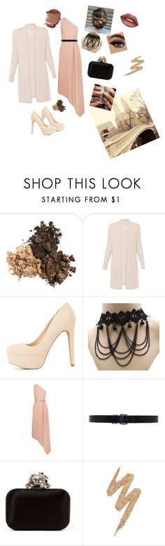 """nice beige"" by anastaslepchenko ❤ liked on Polyvore featuring Charlotte Russe, STELLA McCARTNEY, Ann Demeulemeester, Jimmy Choo, Urban Decay and Lime Crime"