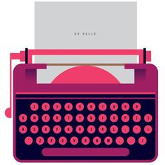 typewriter... I really want one for some reason. It would be so cool! Esp one that's purple pink!