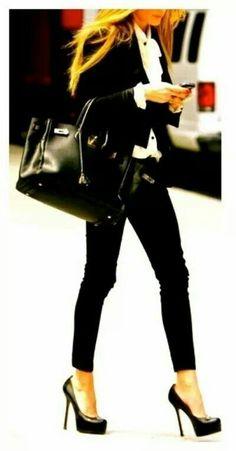 Black and heels