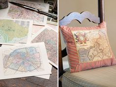 Intricate renderings composed with striking detail, interesting shapes, and graceful script, maps of all kinds give academic panache to any home interior. A gift bouquet, sends a more heartfelt message when wrapped with a map meaningful to the receiver, and an accent pillow becomes an objet d'art when constructed around a fabric-panel print of an Old-World exploration chart.