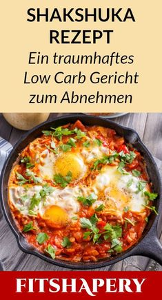 delicious low carb shakshuka is easy to make, healthy and vegetarian . - This delicious low carb shakshuka is easy to make, healthy and vegetarian. Here you will find the c -This delicious low carb shakshuka is easy to make, healthy and ve. Salad Recipes For Dinner, Healthy Salad Recipes, Low Carb Recipes, Healthy Snacks, Vegetarian Recipes, Vegetarian Lifestyle, Delicious Recipes, Vegan Vegetarian, Easy Recipes