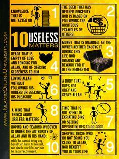 10 useless matters.