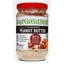 Powdered Peanut Butter - seriously amazing.  2 tbs = 45 calories, 1.5 grams of fat.  Add a tbs of water to 2 tbs of powder and it tastes JUST LIKE reg peanut butter without all the oil.  it's even great sprinkled on bananas.  Organic section of Wegmans.  It will change your life.