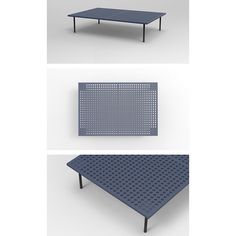 perforated coffee table concept furniture design