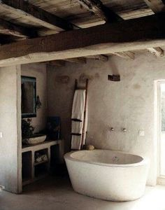 rusztikus design fürdőszoba, lakberendezési ötletek Wabi Sabi, Rustic Furniture, Toilet, Sweet Home, Bathroom, Interior, Projects, Design, Decor