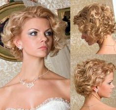 Wedding Hairstyles for Short Hair side view