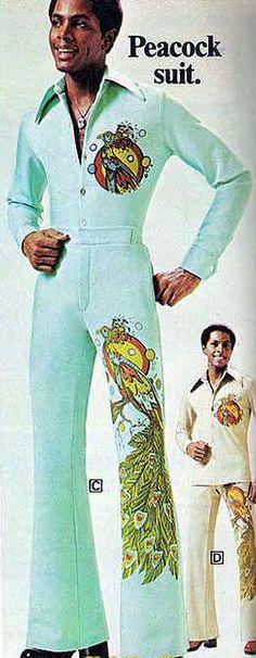 um, wow. Mens 1970s peacock suit