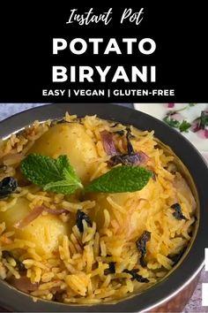 Indian Potato Recipes, Healthy Indian Recipes, Vegetarian Recipes, Arabic Recipes, Ethnic Recipes, Paneer Masala Recipe, Biryani Recipe, One Pot Rice Meals, Easy Cooking