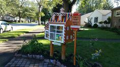 Debbie Fizer. Griffith, IN. While Griffith has seven Little Free Libraries, mine is first on private property. Aside from the 3,500 shingles, the materials, including the garden surrounding it, and labor were donated. My Library has about a 300% monthly turnover rate. Some of the most regular visitors are neighborhood homeschoolers. It is quickly becoming a town destination for a picture with the Little Free Gingerbread House.