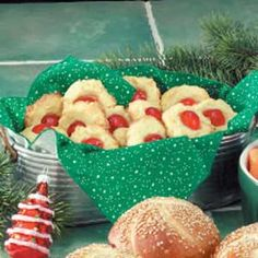 Cream Cheese Delights Recipe -These cute cherry-topped cookies are as light as air and so easy to make. They're perfect for entertaining or most any time of the year. —Agnes Golian, Garfield Heights, Ohio
