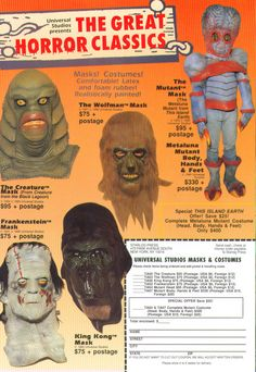 Horror Classics #horror #vintage #mask