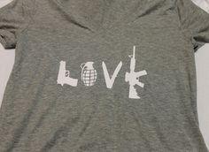 Love v neck T shirt by AmyJaneBeauty on Etsy #USMC #military #militarylove #militarygirlfriend #usmcgirlfriend #usmcwife #usa #navy #milso #army #navygirlfriend #navywife #armygirlfriend #armywife #airforce #airforcewife #airforcegirlfriend