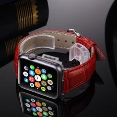 Genuine Leather Buckle Wrist Watch Strap for Apple Watch Unisex