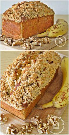Happy Home Baking: Banana Walnut Streusel Pound Cake